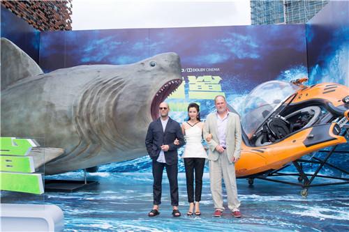 """《巨齿鲨》发布会杰森·斯坦森自曝""""肉搏""""鲨鱼 李冰冰"""